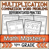 Multiplication Comparison Word Problems Worksheets