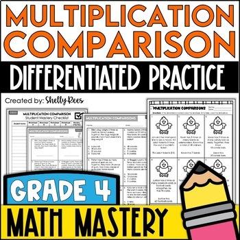 Multiplication Comparison (4th Grade Common Core Math: 4.OA.2)