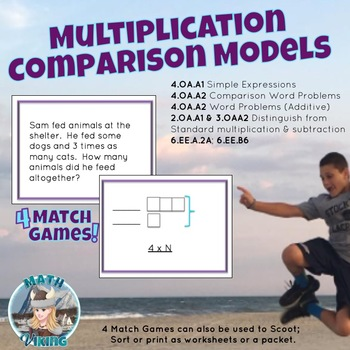Multiplication Comparison Models/ Ratio/ Tape Diagram Match Games