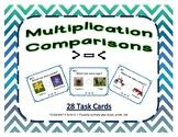 Multiplication Comparison Task Cards