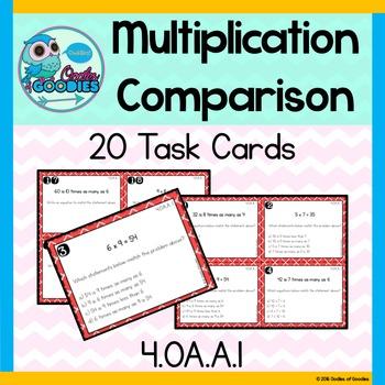 Multiplication Comparison Task Cards (4.OA.A.1)