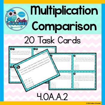 multiplication comparison task cards word problems 4 oa a 2 tpt. Black Bedroom Furniture Sets. Home Design Ideas