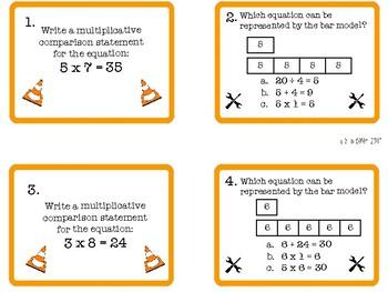 Multiplication Comparisons: Construction Zone Theme