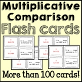 Multiplication Comparisons Math Flash Cards Common Core {4th Grade}