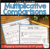 4.OA.1 Multiplication Comparisons Worksheets