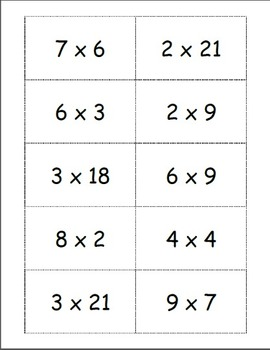 Multiplication Concentration II Factors Only