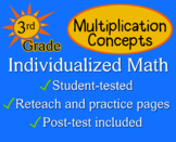 Multiplication Concepts, 3rd grade - worksheets - Individu