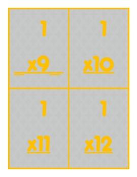 Multiplication Concrete Models Game