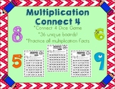 Multiplication Connect 4 - Dice Game - Multiplication Math Facts Practice!