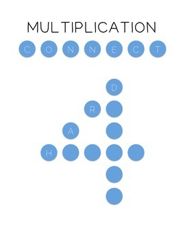 Multiplication Connect Four (Hard Level)
