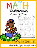 Multiplication {Connect Four} Math Center FREEBIE!