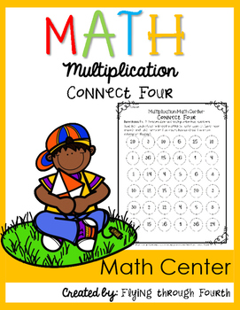 Multiplication {Connect Four} Math Center FREEBIE!