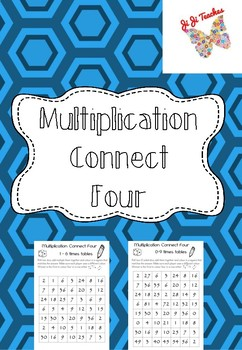 Multiplication Connect Four- Using Dice