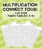 #AUSBTS18 Multiplication Connect Four maths games! 1-20 dice {7 games}