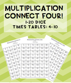 #AUSBTS18 Multiplication Connect Four maths games! 1-20 di