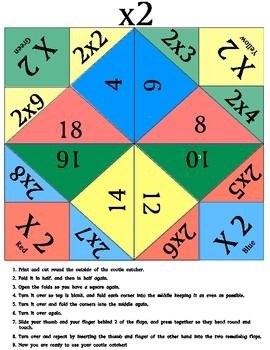 Multiplication Cootie Catchers