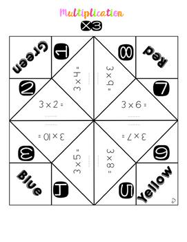 Multiplication Cootie Catchers #2-12