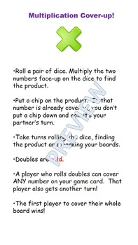 Multiplication Cover Up!