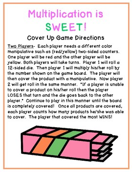 Multiplication Cover Up Games Freebie