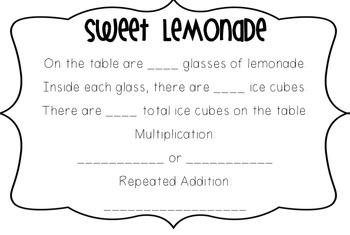 Multiplication Craftivity: Lemonade