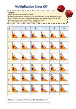 Multiplication Cross Off (Facts 1-6) GROWING BUNDLE!