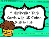 Multiplication Cupcakes Task Cards with QR Codes {3 digit by 1 digit}