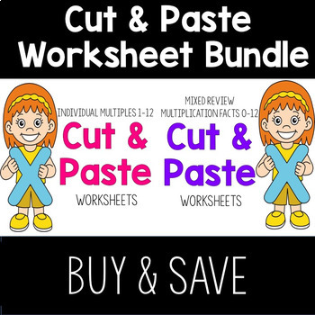 Multiplication Cut & Paste Worksheet Bundle