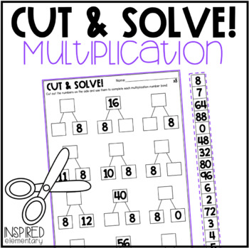 Multiplication Cut & Solve: Multiplication Facts to 12
