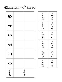 Multiplication Cut & Sort FREEBIE!