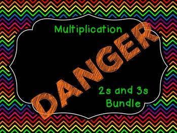 Multiplication DANGER Bundle (2s and 3s)