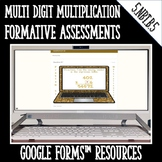 Multiplication DIGITAL TASK CARDS for Google Classroom