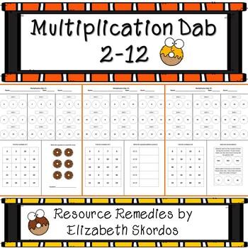 Multiplication Dab 2-12
