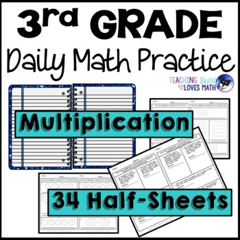 Multiplication Daily Math Review 3rd Grade Bell Ringers Warm Ups