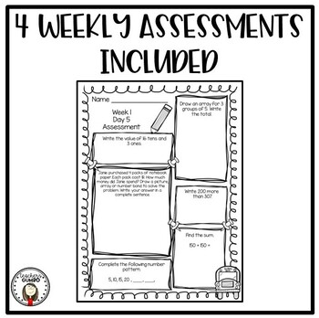 Daily Math Worksheets and Assessments-September Morning Work