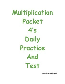 Multiplication Daily Practice 4's
