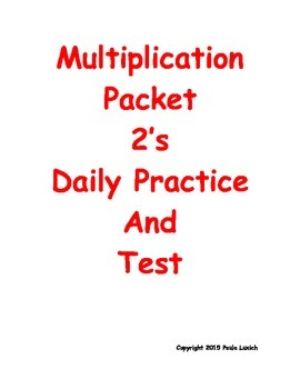 Multiplication Daily Workheets 2's