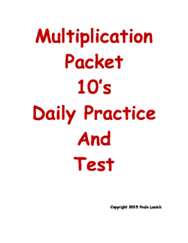 Multiplication Daily Worksheets 10's