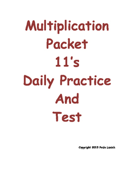 Multiplication Daily Worksheets 11's