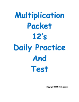 Multiplication Daily Worksheets 12's