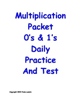 Multiplication Daily Worksheets