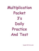 Multiplication Daily Worksheets 3's