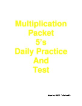 Multiplication Daily Worksheets 5's