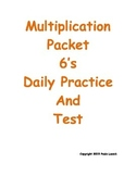 Multiplication Daily Worksheets 6's