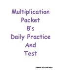 Multiplication Daily Worksheets 8's