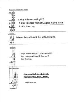 Multiplication Dancing Partners