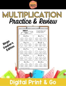 Multiplication Dabber Activites {Dab It! Series}