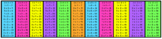Multiplication Desk Labels - Rainbow