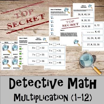 Multiplication- Detective Math Bundle