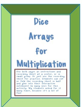 Multiplication Dice Arrays