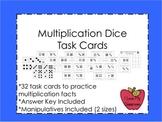 Multiplication Dice Fact Task Cards